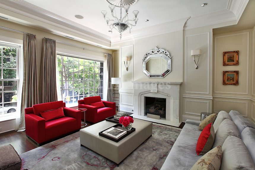 neoclassical luxury living room