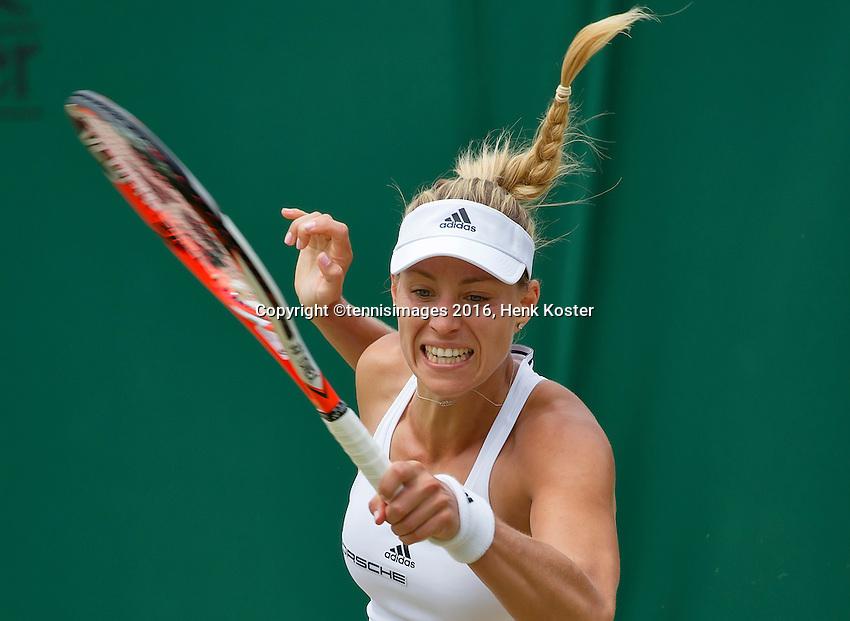 London, England, 4th July, 2016, Tennis, Wimbledon, Angelique Kerber (GER)<br /> Photo: Henk Koster/tennisimages.com