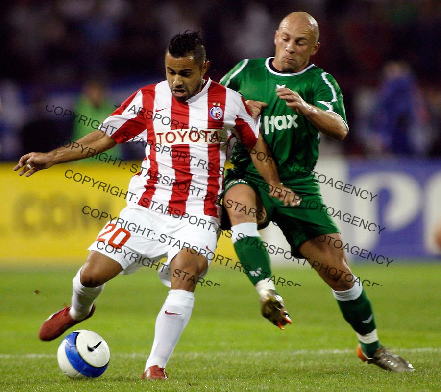 Fudbal, UEFA Cup, first round, second leg.Crvena Zvezda Vs. Groclin, Poland.Joao Da Silva Lukas, left.Beograd, 10.04.2007..foto: Srdjan Stevanovic