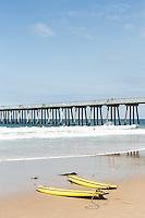 Hermosa Beach Pier, Hermosa Beach, California.