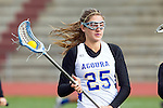 Torrance, CA 05/09/13 - Alix Davies (Agoura #25) in action during the 2013 Los Angeles area Girls Varsity Lacrosse Championship.  Agoura defeated Oak Park 13-7.