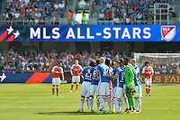 San Jose, CA - Thursday July 28, 2016: MLS All-Stars  prior to a Major League Soccer All-Star Game match between MLS All-Stars and Arsenal FC at Avaya Stadium.
