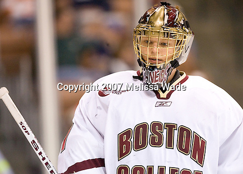 Cory Schneider (Boston College - Marblehead, MA) - The Boston College Eagles defeated the St. Lawrence University Saints 4-1 on Saturday, March 24, 2007, in their semi-final matchup in the Northeast Regional at the Verizon Wireless Arena in Manchester, NH.