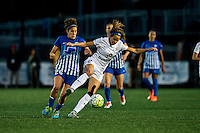 Allston, MA - Sunday, May 22, 2016: Boston Breakers midfielder Angela Salem (26) and FC Kansas City forward Shea Groom (2) during a regular season National Women's Soccer League (NWSL) match at Jordan Field.