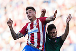 Jose Maria Gimenez de Vargas of Atletico de Madrid (L) in action during the La Liga match between Atletico de Madrid vs Osasuna at Estadio Vicente Calderon on 15 April 2017 in Madrid, Spain. Photo by Diego Gonzalez Souto / Power Sport Images