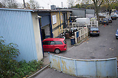 Some of the nine car repair workshops in Camley Street, Camden will be cleared to make way for a construction compound under current plans for the HS2 high speed rail link.