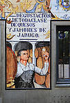 Historic ceramic tiles picture on restaurant wall, Calle Cava Baja, La Latina, Madrid, Spain