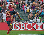 Russia vs Uruguay during the Cathay Pacific / HSBC Hong Kong Sevens at the Hong Kong Stadium on 29 March 2014 in Hong Kong, China. Photo by Juan Flor / Power Sport Images