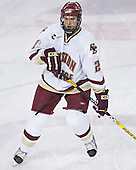 Anthony Aiello - The Boston College Eagles and Ferris State Bulldogs tied at 3 in the opening game of the Denver Cup on Friday, December 30, 2005, at Magness Arena in Denver, Colorado.  Boston College won the shootout to determine which team would advance to the Final.