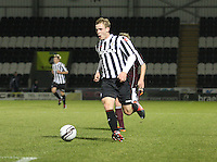 Jordan Holt in the St Mirren v Heart of Midlothian Clydesdale Bank Scottish Premier League U20 match played at St Mirren Park, Paisley on 6.11.12.