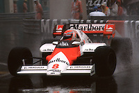 MONTE CARLO, MONACO - JUNE 3: Niki Lauda of Austria drives his McLaren MP4-2 3/TAG TTE PO1 during the Grand Prix de Monaco FIA Formula One World Championship race on the temporary Circuit de Monaco in Monte Carlo, Monaco, on June 3, 1984.
