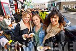 Grace O'Dowd, Sarah Boyle and Laura O'Reilly, all from Tralee, enjoying the atmosphere at the Dingle Food Festival on Saturday last.