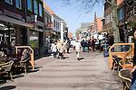 Pedestrianised shopping street, Den Burg, Texel, Netherlands,