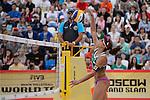 31.05.2015, Moskau, Vodny Stadion<br /> Moskau Grand Slam, Main Draw / Finale<br /> <br /> Angriff Larissa Franca (#1 BRA)<br /> <br />   Foto &copy; nordphoto / Kurth