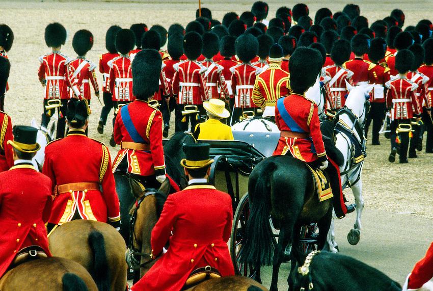 Queen Elizabeth II's carriage, Trooping the Color, Queen Elizabeth II's birthday parade, London, England