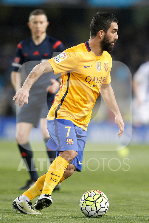 FC Barcelona's Arda Turan during La Liga match. April 9,2016. (ALTERPHOTOS/Acero)