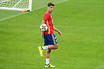Alvaro Morata during Spain training session at Santiago Bernabeu Stadium in Madrid, Spain September 01, 2017. (ALTERPHOTOS/Borja B.Hojas)