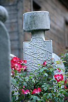 Ottoman headstone in the grounds of the Suleymaniye Mosque, Istanbul, Turkey