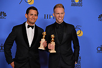 Benj Pasek & Justin Paul at the 75th Annual Golden Globe Awards at the Beverly Hilton Hotel, Beverly Hills, USA 07 Jan. 2018<br /> Picture: Paul Smith/Featureflash/SilverHub 0208 004 5359 sales@silverhubmedia.com