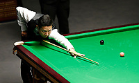 28th November 2019; York, England; Mei Xiwen of China competes during the Snooker UK Championship 2019 first round match with Ken Doherty of Ireland in York - Editorial Use