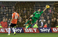 Mark Tyler of Luton Town pulls off a close range save during the Sky Bet League 2 match between Luton Town and Northampton Town at Kenilworth Road, Luton, England on 12 December 2015. Photo by Liam Smith/Prime Media Images.