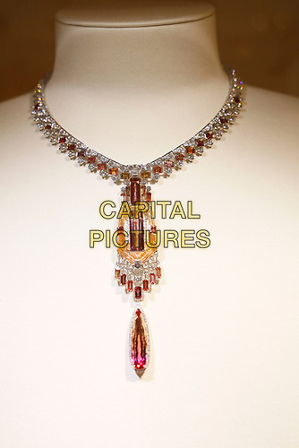 Cartier, present their new collection of fine gems. Three security checks just to see them. Presented at the Place de Vendome in the centre of Paris, these pieces are more than neck bling and allow themselves classification into the category of art instead.- Paris Haute Couture<br /> Paris Fashion week Haute Couture 2019<br /> Paris, France in July 2019.<br /> CAP/GOL<br /> ©GOL/Capital Pictures