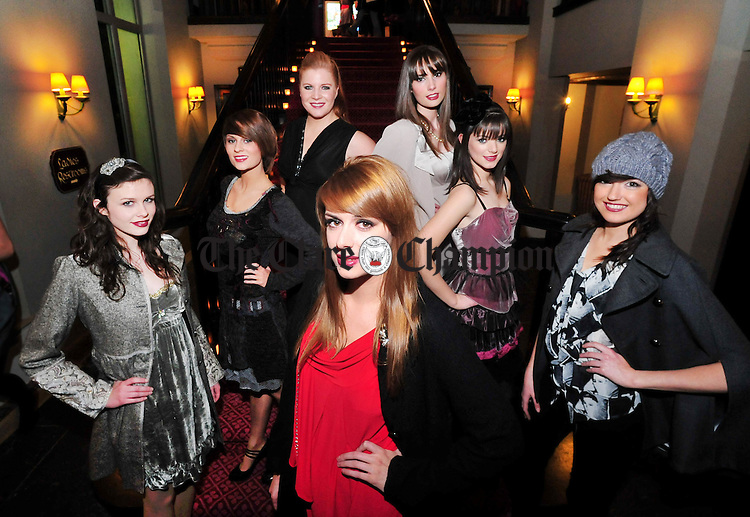 Models from the Martina Costelloe Model Agency at the 'Scouting For Fashion' show at Dromoland Castle. Photograph by Declan Monaghan