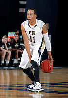 Florida International University guard Phil Taylor (11) plays against ULM, which won the game 54-50 on January 07, 2012 at Miami, Florida. .
