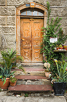 Switzerland, Canton St. Gallen, Sarganserland, Sargans: old door | Schweiz, Kanton St. Gallen, Sarganserland, Sargans: alte Tuer