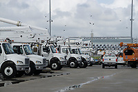 Daytona Speedway Processing site preparing for 2019 Hurricane Dorian in Daytona, Fla. on September 2, 2019.