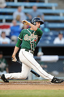 Greensboro Grasshoppers left fielder Aaron Senne #2 swings at  a pitch during game one of the South Atlantic League, Southern Division playoffs between the Greensboro Grasshoppers and the Asheville Tourists at McCormick Field on September 10, 2012 in Asheville, North Carolina . The Grasshoppers defeated the Tourists 6-3. (Tony Farlow/Four Seam Images).