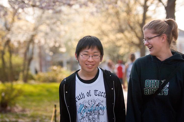18645Spring Campus:..Rachel Briedis and Hiroki Fujiyoshi