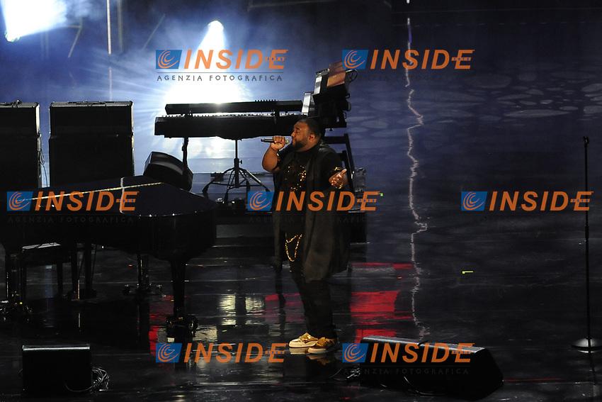 Sergio Sylvestre<br /> Verona 05-06-2017 Arena <br /> Wind Music Awards 2017 <br /> Foto Alberto Anello/Photoring/Insidefoto