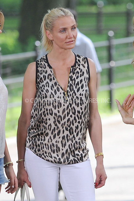 WWW.ACEPIXS.COM<br /> June 27, 2013...New York City<br />  <br /> Cameron Diaz on the film set of 'The Other Woman' in Central Park on June 27, 2013.<br /> <br /> Please byline: Kristin Callahan... ACE<br /> Ace Pictures, Inc: ..tel: (212) 243 8787 or (646) 769 0430..e-mail: info@acepixs.com..web: http://www.acepixs.com