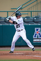 Dartmouth Big Green left fielder Michael Ketchmark (27) at bat during a game against the South Florida Bulls on March 27, 2016 at USF Baseball Stadium in Tampa, Florida.  South Florida defeated Dartmouth 4-0.  (Mike Janes/Four Seam Images)