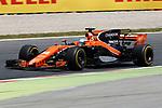 Spanish F1 Grand Prix Pirelli 2017.<br /> Fernando Alonso (McLaren).