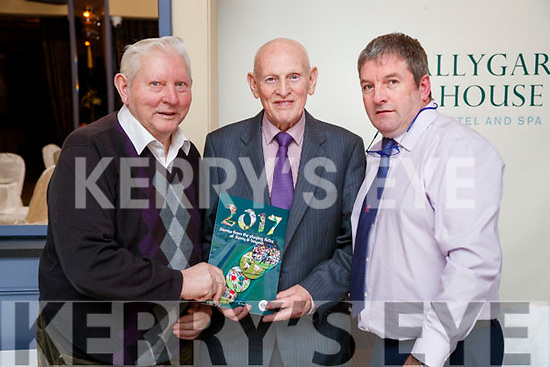 Enjoying the Kerry Supporters Social at Ballygarry House Hotel and Spa, Tralee, on Saturday night last were l-r: Mike Allen (Firies), Denis Carroll (Firies) and Bernard Lynch (Kerins O'Rahillys).