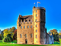 Castle Fraser near Kemnay, Inverurie dates back to 1575 and is a superb example of a Scottish baronial tower built on a Z plan. Two wings project to form a courtyard. Castle Fraser was home to two different branches of the Fraser clan.<br /> www.dsider.co.uk  dsider online magazine, guide, photography courses. <br /> Photography by Bill Bagshaw photographers