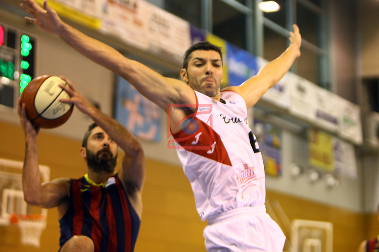 Regal XXXV Llia Nacional Catalana ACB 2014-Semifinals.<br /> FC Barcelona vs La Bruixa d'Or Manresa: 82-66.<br /> Juan Carlos Navarro vs Carles Bivia.