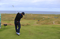 Andy Sullivan (ENG) tees off the par3 14th tee during Thursday's Round 1 of the 2018 Dubai Duty Free Irish Open, held at Ballyliffin Golf Club, Ireland. 5th July 2018.<br /> Picture: Eoin Clarke | Golffile<br /> <br /> <br /> All photos usage must carry mandatory copyright credit (&copy; Golffile | Eoin Clarke)