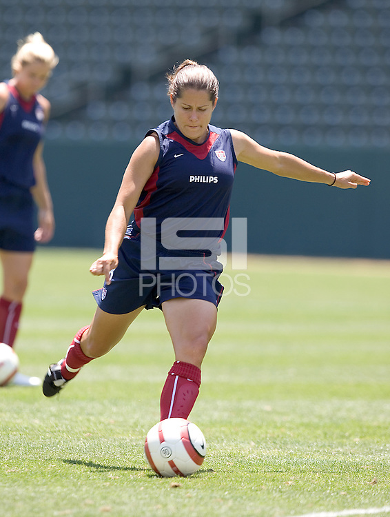 Shannon MacMillan. The USA defeated Iceland, 3-0, at the Home Depot Center in Carson, CA on July 24, 2005.