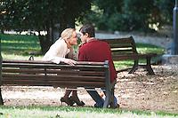 Roma, 22 Luglio, 2013. Sharon Stone e Riccardo Scamarcio sul set del nuovo film di Pupi Avati, Un ragazzo d'oro.
