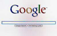 Google search screen.