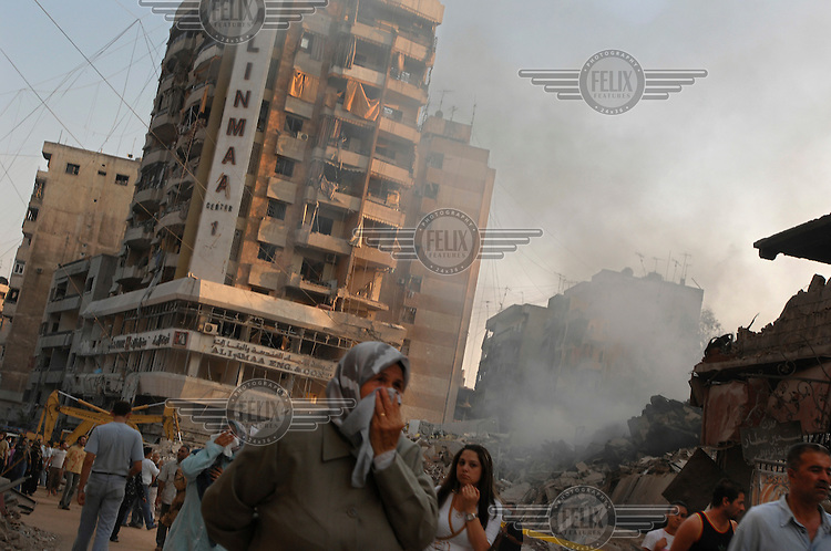 Residents return to find that large areas of southern Beirut had been reduced to rubble by Israeli bombardment during 34 days of conflict between Israel and Hezbollah (Hizbollah).