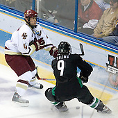 Mike Brennan (Boston College - Smithtown, NY), Jonathan Toews (University of North Dakota - Winnipeg, MB) - The Boston College Eagles defeated the University of North Dakota Fighting Sioux 6-4 in their 2007 Frozen Four semi-final on Thursday, April 5, 2007, at the Scottrade Center in St. Louis, Missouri.