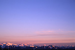 North Cascade range with pink sunrise
