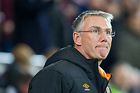 Hull City manager Nigel Adkins ahead of the Sky Bet Championship match between Cardiff City and Hull City at the Cardiff City Stadium, Cardiff, Wales on 16 December 2017. Photo by Mark  Hawkins / PRiME Media Images.