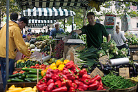 Farmer's Market in Copley Square on St. James Street Boston MA