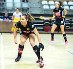 Almere - Zaalhockey Amsterdam-Den Bosch (v)  .  Charlotte Adegeest (A'dam) .TopsportCentrum Almere.    COPYRIGHT KOEN SUYK