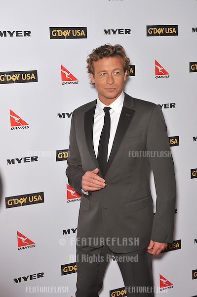 Simon Baker at the 2010 G'Day USA Australia Week Black Tie Gala at the Grand Ballroom at Hollywood & Highland..January 16, 2010  Los Angeles, CA.Picture: Paul Smith / Featureflash